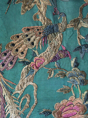 Antique Chinese Silk tapestry Wall Hanging