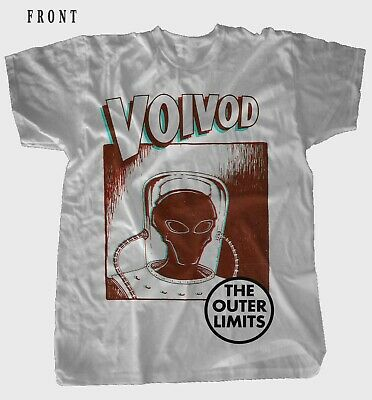 VOIVOD-The Outer Limits-Canadian heavy metal band ,WHITE T-shirt-SIZES: S to 7XL