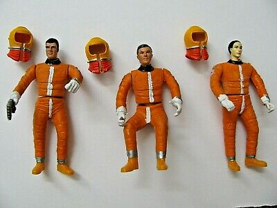 Vtg Mattel SPACE 1999 EAGLE 1 CUSTOM (3) FIGURES Open Hands New Heads Details