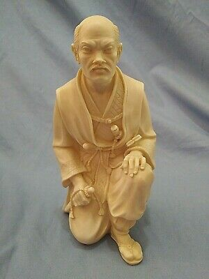Signed 1988 Giannelli Kneeling Japanese Asian Samurai Warrior Sculpture Statue