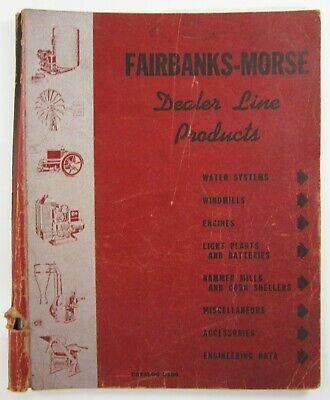 Fairbanks Morse Hit Miss Engine Windmill Farm Equipment Catalog 1930-40's