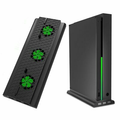 Vertical Stand With Cooling Fan For Xbox One X, Console Holder Cooler With  S3P1