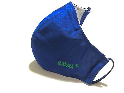 Face Mask Gmask-Royal Blue with Washable/reusable BFE 95 Activated Carbon Filter