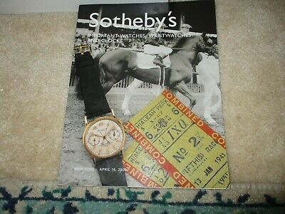 Sothebys and Christies watch and clock auction catalogs (3), Rolex, Patek.