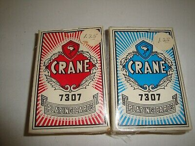 Vintage CRANE 7307 Deck of Poker Sized Playing Cards -SEALED  Made in China