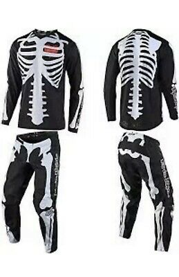 Troy Lee Designs GP Skully Jersey and Pant Set (Black / White)