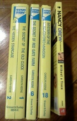 Nancy Drew starter set books  #1/2, #6, #18 & Girl Detective #1 Without a Trace