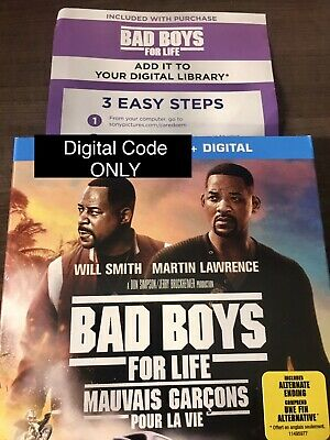 Bad Boys For Life Digital Movie From Blu-ray ***READ*** CANADA