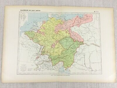 1888 French Map of 18th Century Germany War of Succession 7 Years War Historical