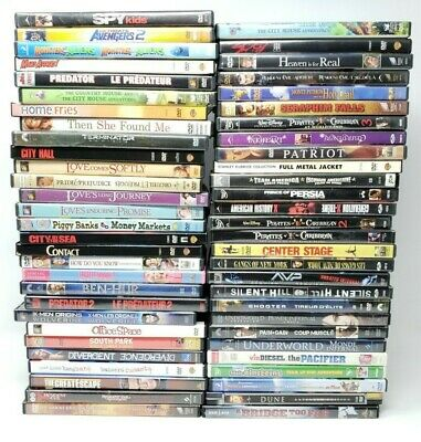 57 DVD Movie Bulk Wholesale Resurface Lot UNTESTED AS-IS