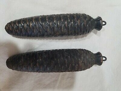 Pair of Pine Cone German Cuckoo Clock Weights 6.5 pounds est