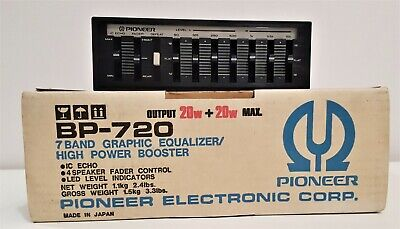 Pioneer Bp-720 - 7 Band Graphic Equalizer/High Power Booster -