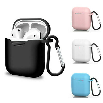 Silicone Protective Cover Case For Apple AirPods Earphone Charger Slim Cases