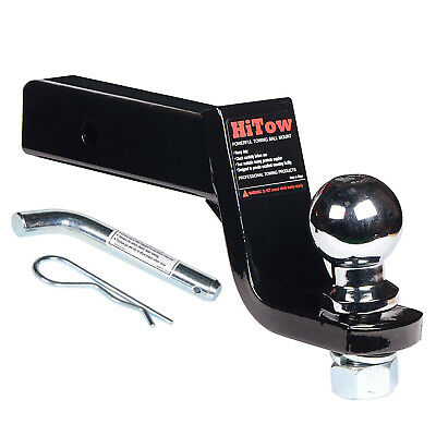 """Trailer Hitch Loaded Ball Mount Class II 4"""" Drop with 1-7/8"""" Hitch Ball"""