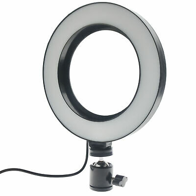 Camera Selfie Phone LED Ring Light Studio Photo Video Dimmable Lamp Tripod Stand