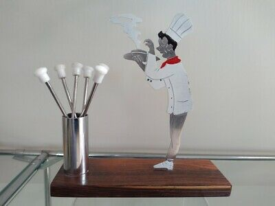 French Art Deco SUDRE Chef Cocktail Sticks Picks Barware