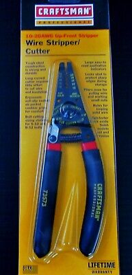 """Craftsman 8"""" Professional 10-20 AWG Wire Cutter/Stripper Pliers USA Made 73573"""