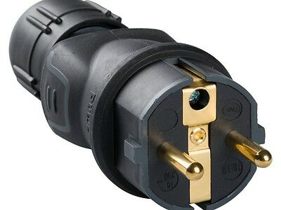 Legrand Solid Rubber Schuko Plug with Cable Gland VDE