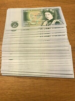 90 uncirculated £1 notes - Consecutive Numbers