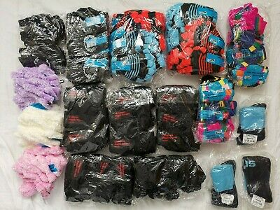 128 Pairs of Homeware Essentials Boys Girls Kids Children's Gloves Joblot