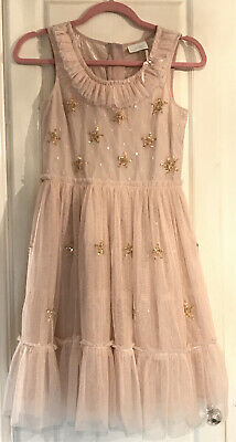 Girls Dress By Next Signature Age 12 Years In Dusky Pink