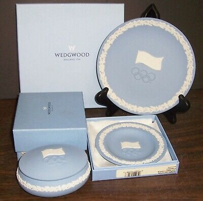 Wedgwood Jasperware Olympic Collection Limited Edition Of 2000 Plate - Tray -Box