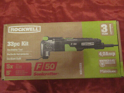 Rockwell RK5142K Universal Fit Sonicrafter F50 Oscillating Tool 33pc