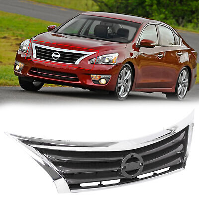 For 2013 - 2015 14 Nissan Altima Front Bumper Grille Upper Grill Assembly Chrome