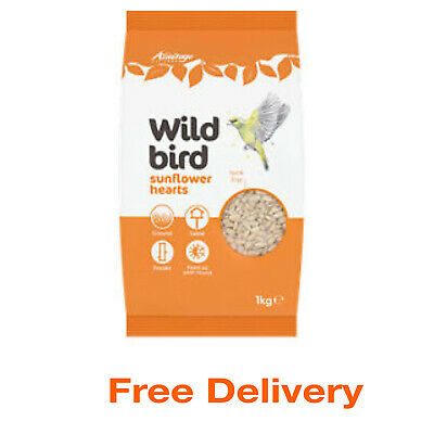 Wild Bird Sunflower Seed Hearts Feed Garden Feeders Outdoor Food Wildlife 1KG