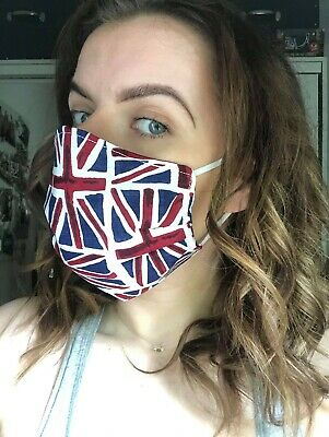 Face Mask Cotton Homemade Fabric Protection Union Jack
