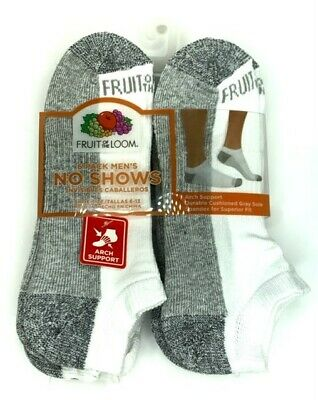 Fruit of the Loom Men's Cushioned No Show Socks 6 pair