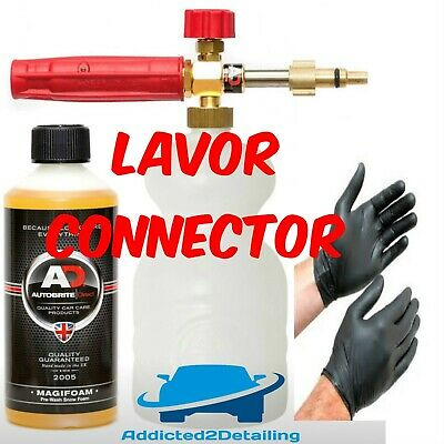 Autobrite Direct Heavy Duty Pa Snow Foam Lance Lavor Connector+500Ml Magifoam+