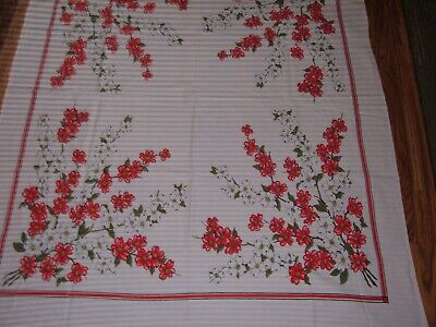 Vintage Tablecloth Floral