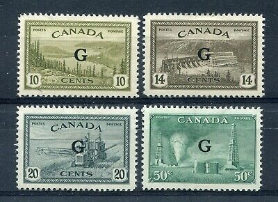 "CANADA Scott O21 to O24 - HR - ""G"" Overprinted Official Stamps (.003)"