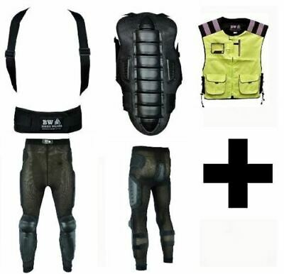 Body Armour Motorcycle Motorbike Back Spine Protector With Safety Trouser