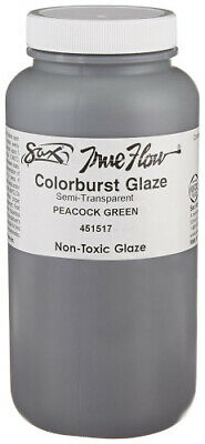 Sax True Flow Colorburst Glazes - 1 Pint - Peacock Green. Shipping Included