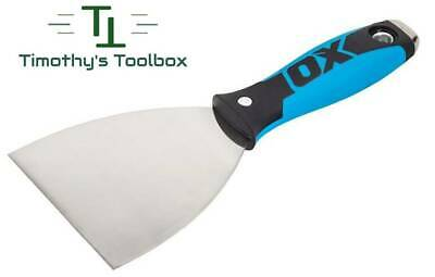 """OX Pro 4"""" Flex Stainless Steel Drywall Putty Joint Knife w/ Comfort OX Grip"""