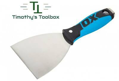 """OX Pro 5"""" Flex Stainless Steel Drywall Putty Joint Knife w/ Comfort OX Grip"""