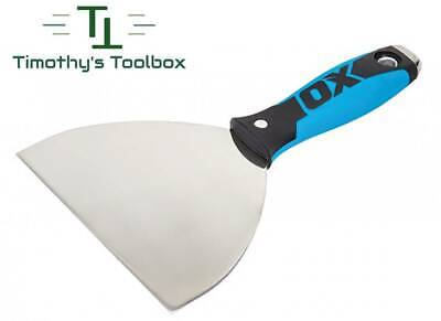 """OX Pro 6"""" Flex Stainless Steel Drywall Putty Joint Knife w/ Comfort OX Grip"""