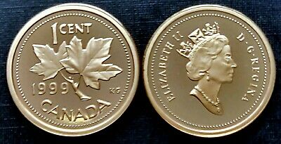 Canada 1999 Proof Gem UNC Small Cent Penny!!