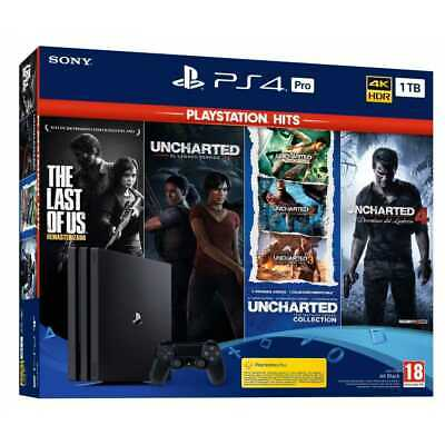 Ps4 Pro + The Last Of Us + Saga Uncharted Completa 5 Juegos Hits + Nioh 2