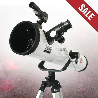 NEW Complete F700-76 Reflector Astronomical Telescope Complete Lens & Tripod