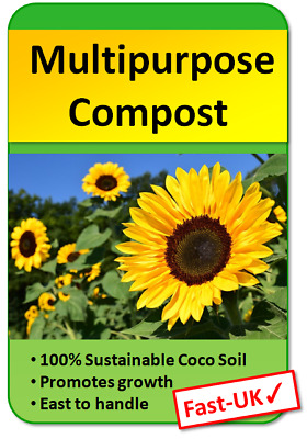 Multi Purpose Compost for Seed Planting and Potting, 100% Peat Free blocks 1-22L