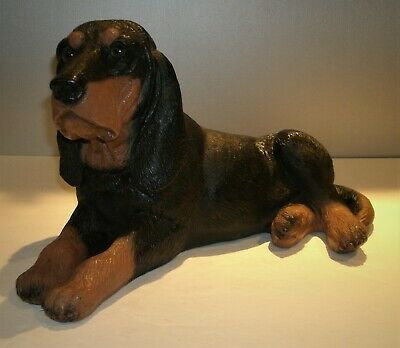 "Vtg Large Bloodhound Dog Statue Figurine High Quality Resin 16'L x 8"" W x 9""T"