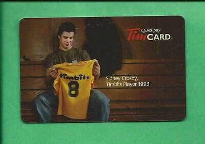 2009 Tim Hortons Canada NHL Crosby Timbits  Gift Cards No  Value