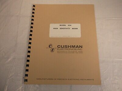 Cushman 324 High Sensitivity Mixer Owner Operator Instruction Maintenance Manual