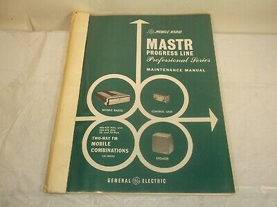 Ge Mastr Progress Line Professional Series Instruction Maintenance Manual I