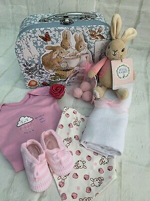 Beatrix Potter Flopsy Bunny Baby Girl Medium Gift Hamper
