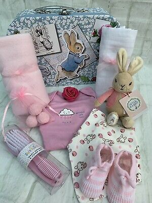 Beatrix Potter Flopsy Bunny Baby Girl Large Gift Hamper