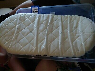 Quilted Soft Baby Moses Basket / Pram  Oval Shaped  All Sizes Mattress Uk